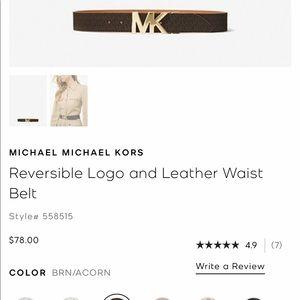 AUTHENTIC NWT Micheal Kors Reversible XL Belt